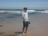 Aleksi on the beach in Torquay
