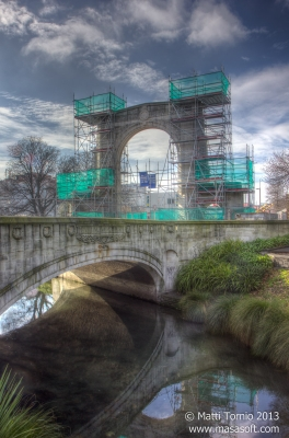 Bridge under repairs (HDR)