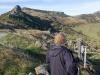 Eija on the hills above Akaroa