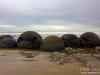 Row of boulders