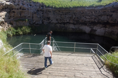 Michael and Steve checking out Goulden's Hole